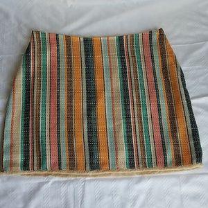 NWOT H&M multi striped skirt